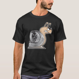Camiseta PRETO do t-shirt do logotipo de BoostingSnail