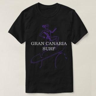 Camiseta Preto do t-shirt do surf de Gran Canaria