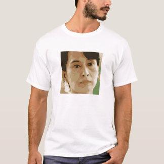 Camiseta preto do verde do líder de Aung San Suu Kyi Burma