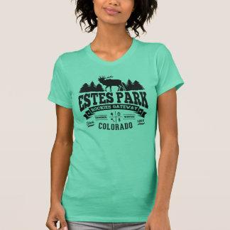 Camiseta Preto do vintage do parque de Estes