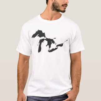 Camiseta Preto dos grandes lagos
