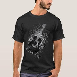 Camiseta Preto dos homens de Diag da árvore da guitarra de