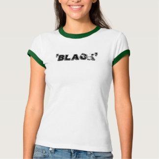 "Camiseta Preto - dos ""o anel tiros para fora remix"" t"