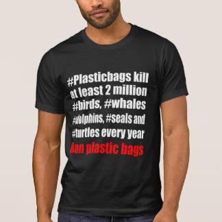Camiseta Preto dos sacos de plástico