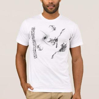 Camiseta Preto e branco abstrato