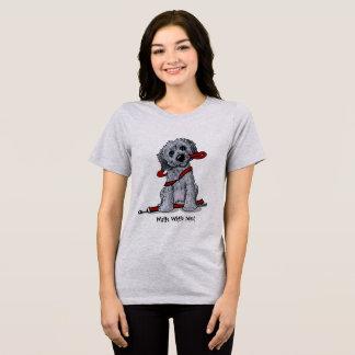 Camiseta Preto e cinzas do Doodle de KiniArt