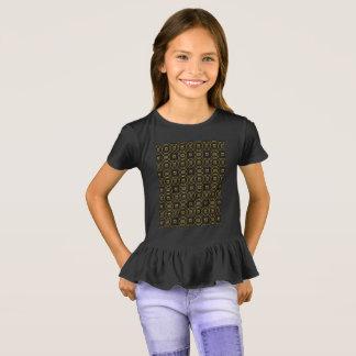 Camiseta Preto e elegante brilhante do teste padrão