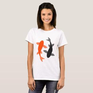 Camiseta Preto e laranja dos peixes do zen