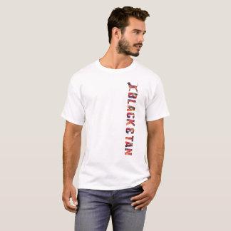 Camiseta Preto e T gráfico do Coonhound de Tan multi