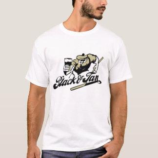 Camiseta Preto e t-shirt de Tan