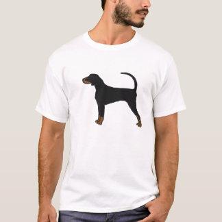 Camiseta Preto e t-shirt do Coonhound de Tan
