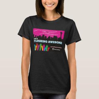 Camiseta Preto impressionante de nivelamento do t-shirt das
