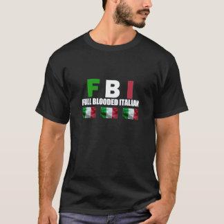 Camiseta Preto ITALIANO do CHEIO BLOODED