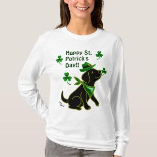 Camiseta Preto Labrador do dia de St Patrick