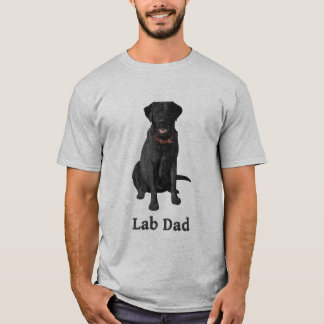 Camiseta Preto labrador retriever do pai do laboratório