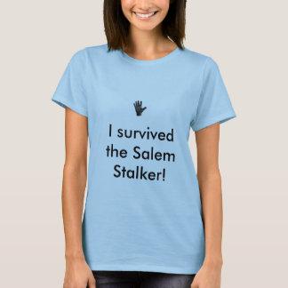 Camiseta preto-luva-palma, eu sobrevivi ao S… -