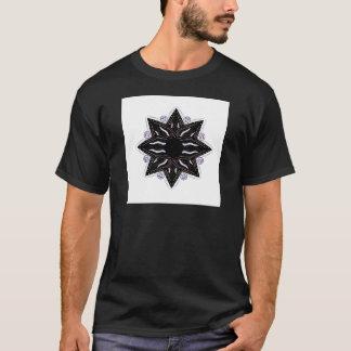 Camiseta Preto luxuoso do ornamento no branco