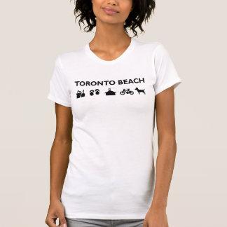 Camiseta Preto monótonos dos ícones da praia de Toronto