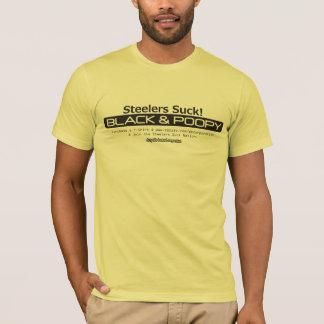 Camiseta Preto & nação de Poopy Steeler