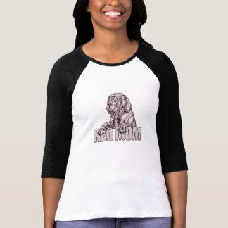 Camiseta Preto napolitana UC da mamã do Mastiff