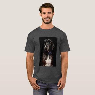Camiseta Preto no t-shirt preto de great dane