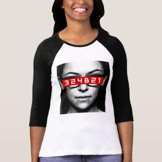 Camiseta Preto órfão | Cosima - número de Tag