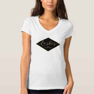 Camiseta Preto/ouro do salão de beleza do chicote