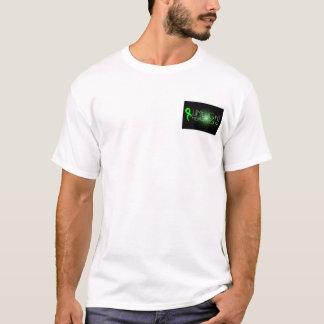 Camiseta Preto pequeno do logotipo da saúde mental do