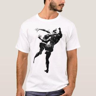 Camiseta Preto tailandês/branco de Muay