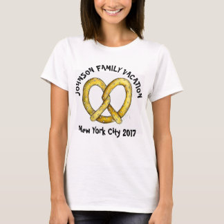 Camiseta Pretzel personalizado férias em família New York