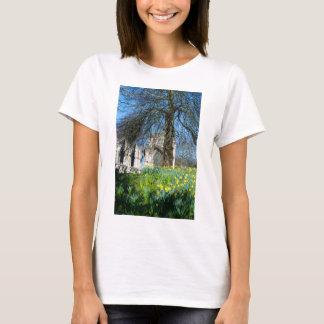 Camiseta Primavera em jardins do museu