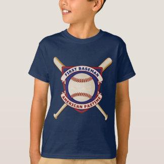 Camiseta Primeira base, passatempo americano