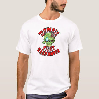 Camiseta Primeiro que responde do zombi