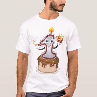 Camiseta Primeiro t-shirt dos homens da mascote do