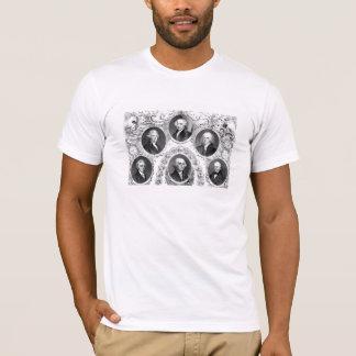 Camiseta Primeiros seis presidentes dos E.U.