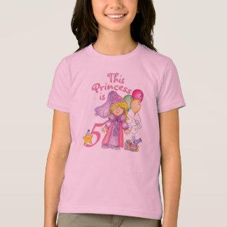 Camiseta Princesa 5o aniversário