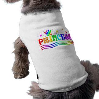 Camiseta Princesa bonito Tiara do arco-íris do clipart dos