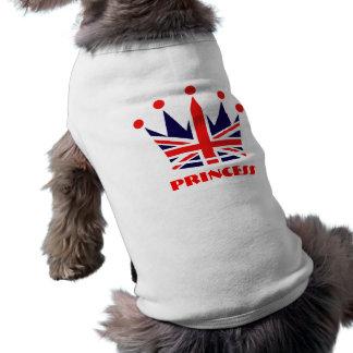 Camiseta Princesa britânica Coroa