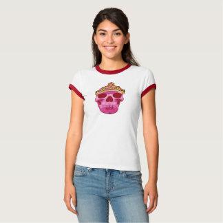 Camiseta Princesa cor-de-rosa Crânio