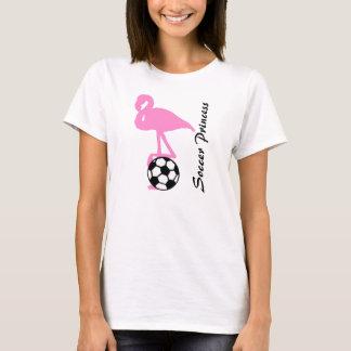 Camiseta Princesa Cor-de-rosa Flamingo do futebol das
