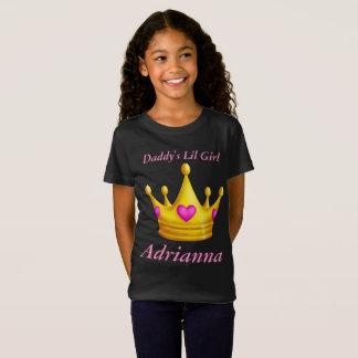 Camiseta Princesa Coroa da menina do Lil do pai