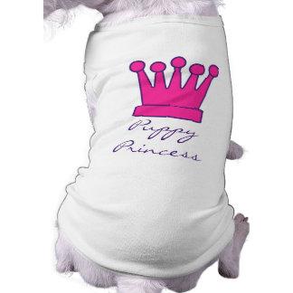Camiseta Princesa Coroa Doggy Camisa do filhote de cachorro