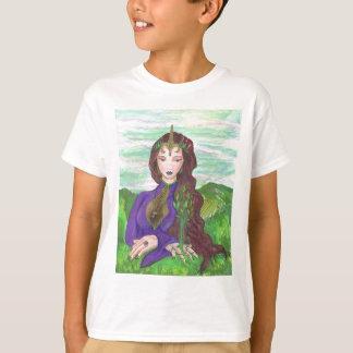 Camiseta Princesa Cura Terra Planta Growing do unicórnio