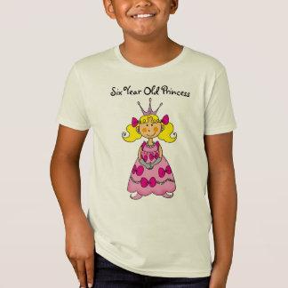Camiseta Princesa da criança de seis anos