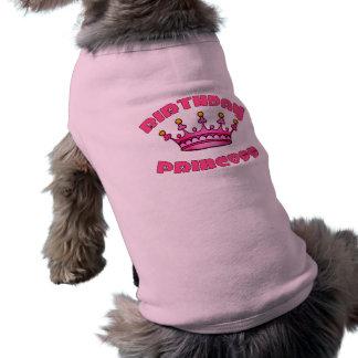 Camiseta Princesa do aniversário com coroa