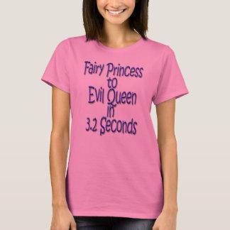 Camiseta Princesa feericamente à rainha má em 3,2 segundos