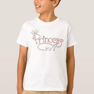Camiseta Princesa glamoroso Coroa & calçados do salto alto
