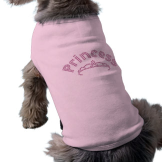 Camiseta Princesa impressa Tiara do cristal de rocha