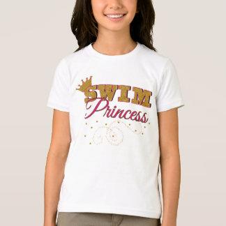 Camiseta Princesa Miúdo T-shirt da natação
