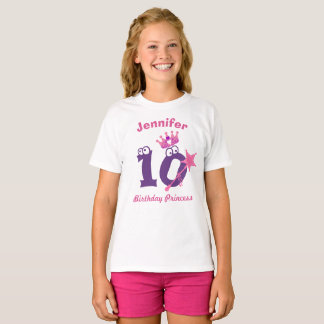 Camiseta Princesa T-shirt 10 19 do feliz aniversario
